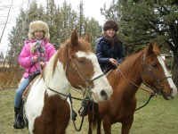 horse riding trip on family farm