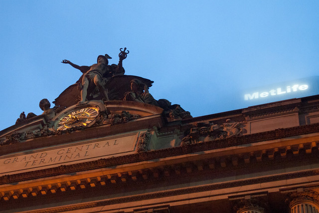 Sculpture on the roof of Grand Central Station. Photo by Ellen Brenna Dougherty