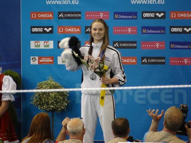 Sycerika McMahon (IRL) on the Debrecen 2012 Podium