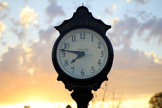 Clock on East Montague