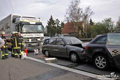 Auffahrunfall A66 Schiersteiner Kreuz 02.04.12
