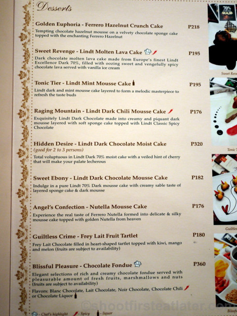 Maitre Chocolatier Boutique Cafe Menu-001