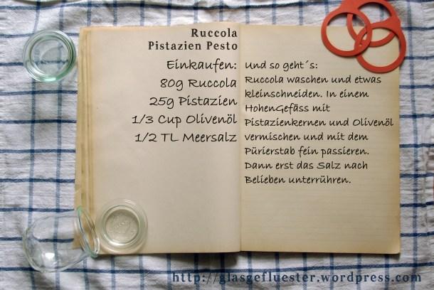 Einkaufszettel Ruccolapesto by Glasgefluester