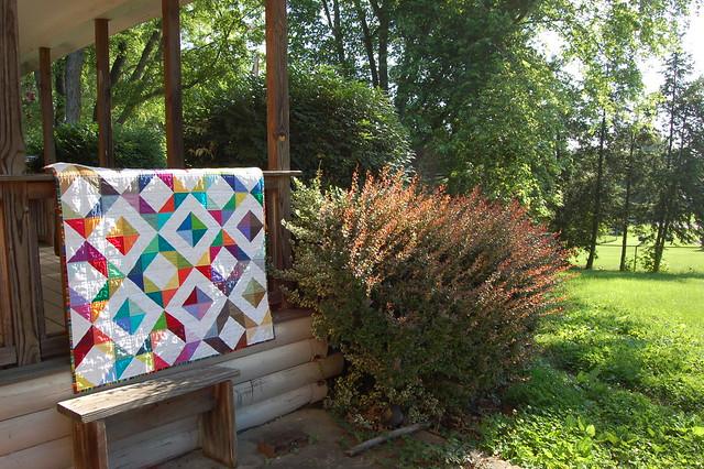 Spectrum Half Square Triangle Quilt