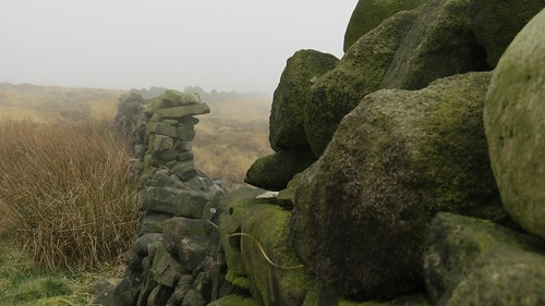 Wall, moor and mist.