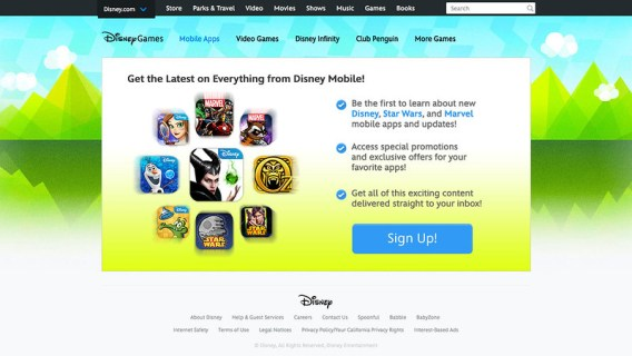 Disney Mobile   Email Registration Page
