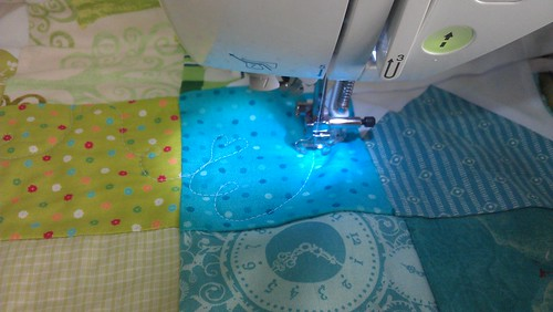Quilting has begun...