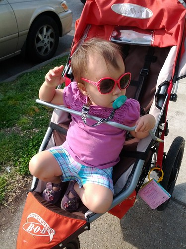 Trying to escape the stroller