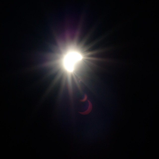 The solar eclipse as seen from San Francisco.