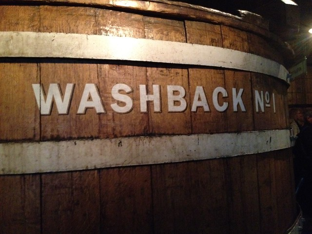 Wooden washback for fermentation - The Old Jameson Distillery