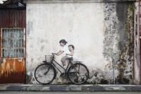 'Happily Riding Bicycle' Mural Art @ Armenian Street ...