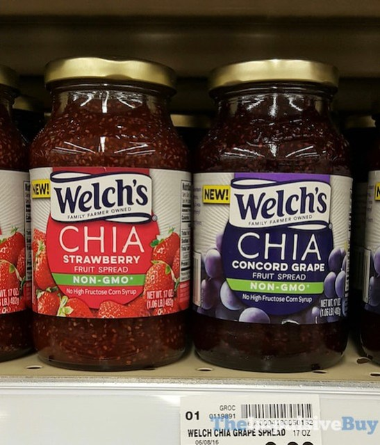 Welch's Strawberry and Concord Grape Chia Fruit Spreads