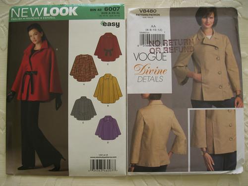 New Look 6007 cape & Vogue 8480 jacket