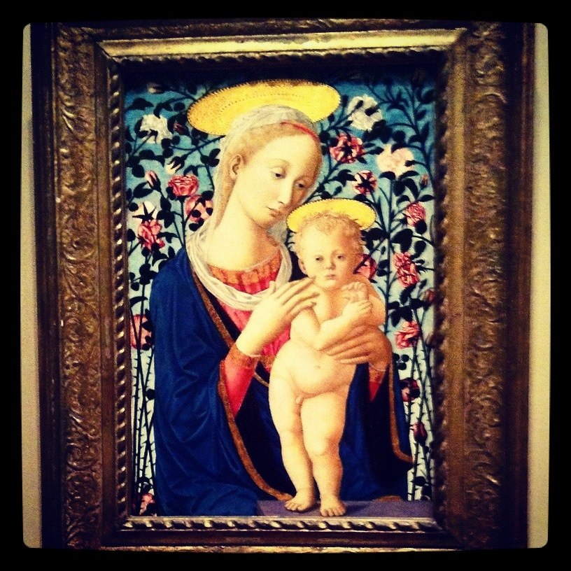 """An anonymous artist's (a follower of Fra Filipp Lippi and Pesellino) """"Madonna and Child"""" at the National Gallery of Art (Instagrammed photo)- February 2012"""