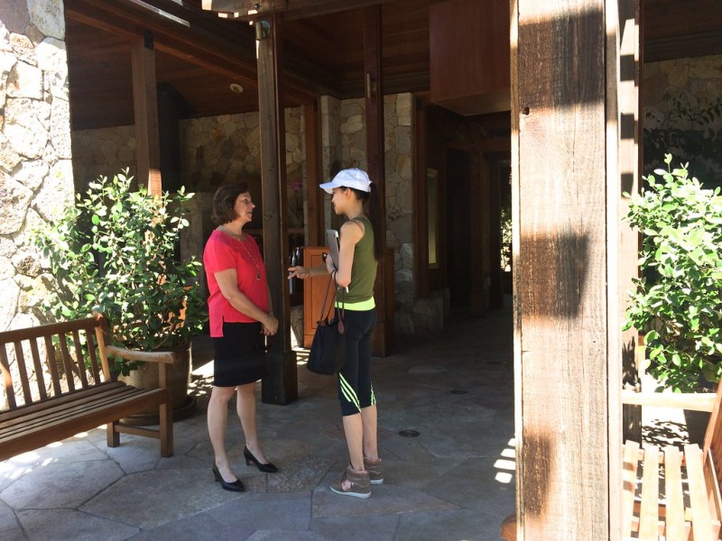 Check-in entrance at Calistoga Ranch