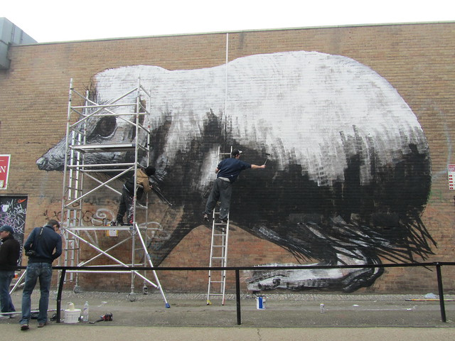 New ROA piece in progress, Chance Street