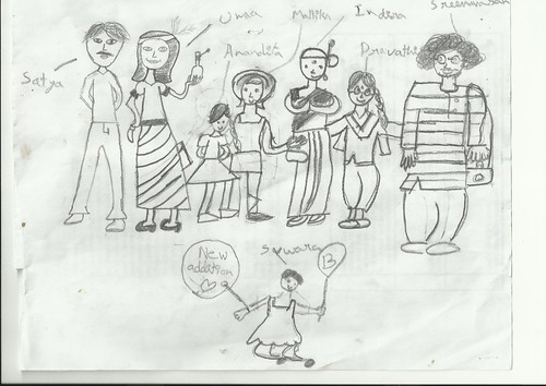 Mallika's family portrait by Vasu..