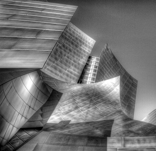 Walt Disney Concert Hall B&W 1