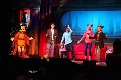 Jedi Mickey, Jeremy Bulloch, Daniel Logan, Michonne Bourriague, James Arnold Taylor
