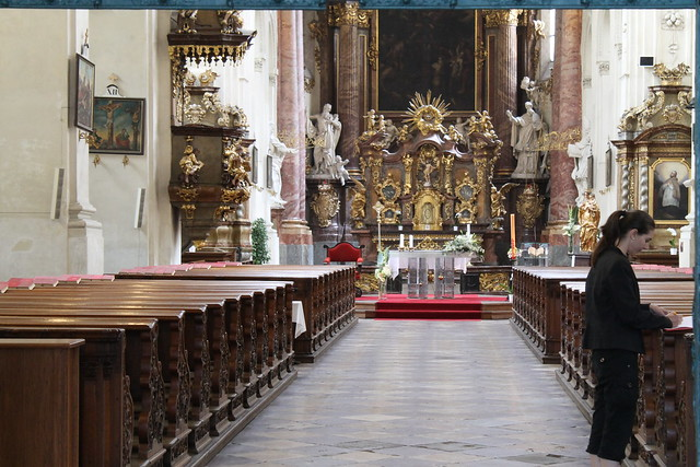 Inside the Kostel Nejsvětějšího Salvátora