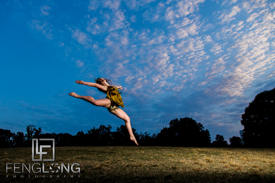 Megan Dances with Light | Light Painting in Piedmont Park | Atlanta Creative Wedding Photographer
