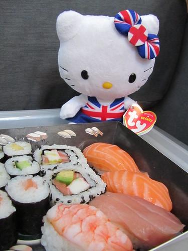 Hello Kitty has sushi