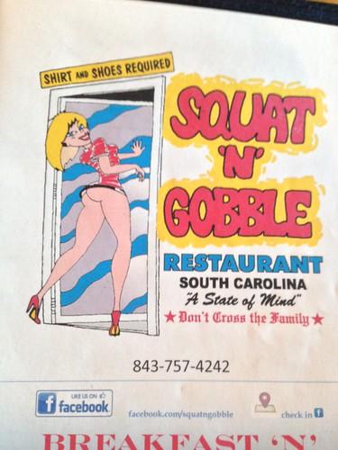 Squat and Gobble menu