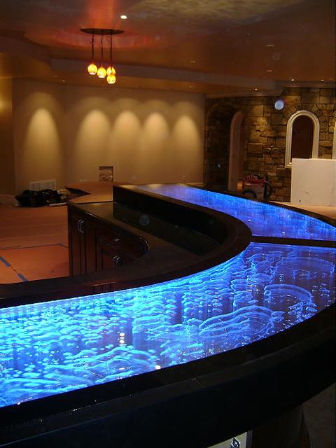 Liquid Bar top  bubbles moving water  Unique