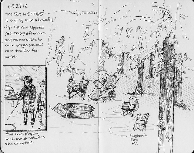 Camping Sketches - Fire Pit