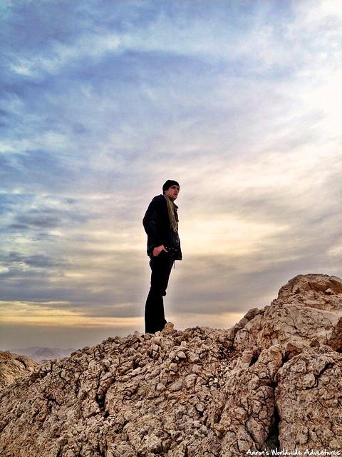 Man Stands on Peak