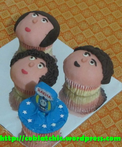 Cupcake edible image thomas dan cupcake face