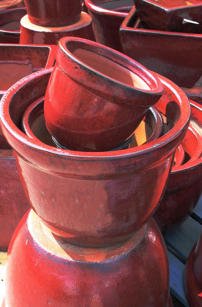 At the garden center -pots