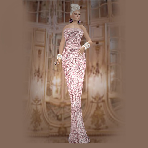 Eclat Ohara Pink Mesh Dress  by Riviera Medier