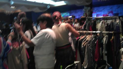 busy BU3 shoppers