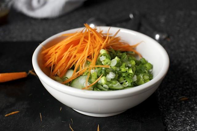 vegetables, slivered and stuff