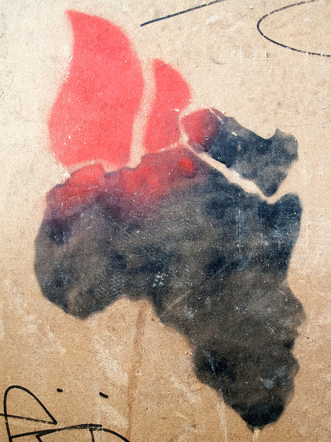 Burning Africa - Stencil