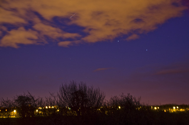 Saturn Spica and ISS over Edinburgh
