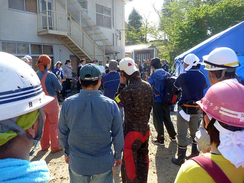 つくば市北条で竜巻災害ボランティア Day2 (援人) Volunteer work @ Hojo, Tskukuba-city, Destroyed by the Tornado of May 6 2012