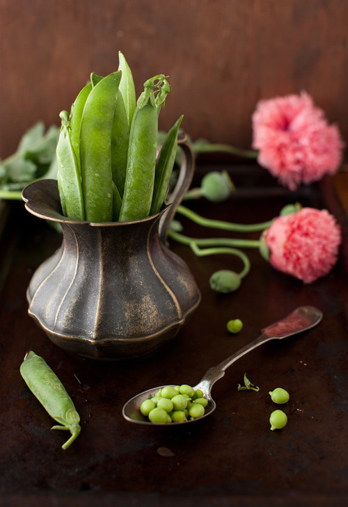 Sweet Peas and Poppy