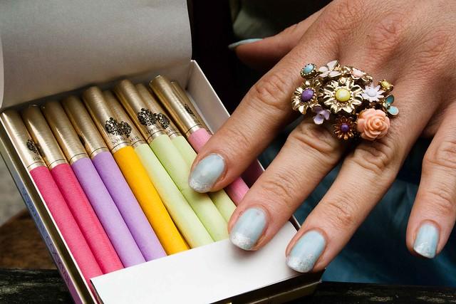 Multi-coloured cigs