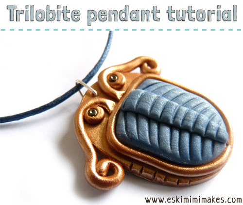polymer clay necklace tutorial trilobite