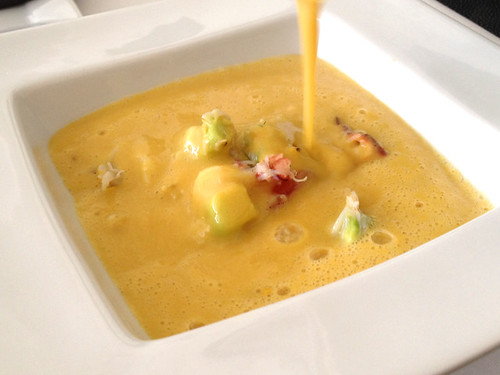 Dungeness Crab Sweet Corn Soup at Petrossian