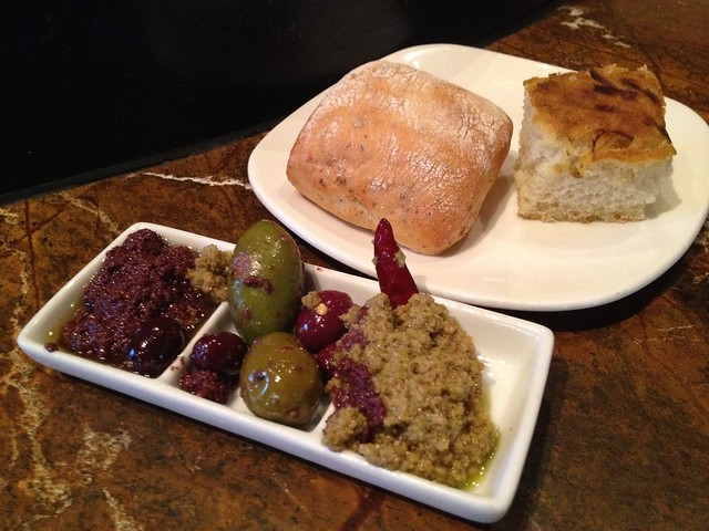 Assorted breads - Todd English's Olives