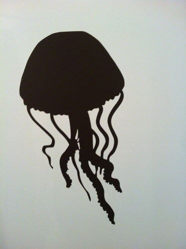 Jelly fish Wall Art in My Shower