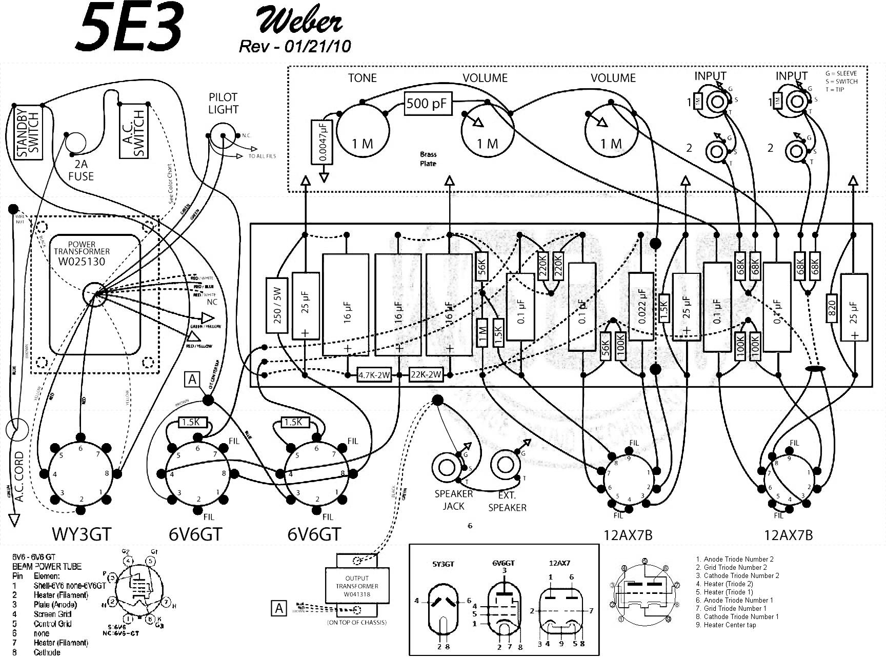 Fender Telecaster Wiring Schematic