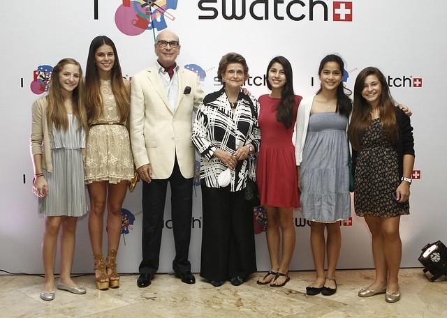 Don Jaime and Doña Bea Zobel with granddaughters Cristina, Henny, Natasha and Beatriz