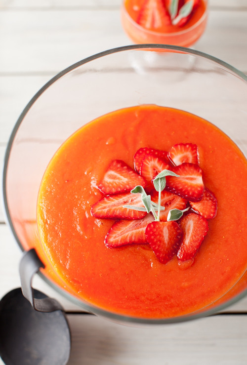 Papaya Strawberry Soup 7