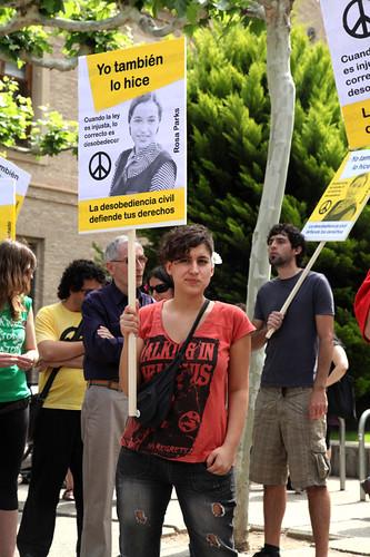 Sentada por los derechos civiles, 12 de mayo, Zaragoza