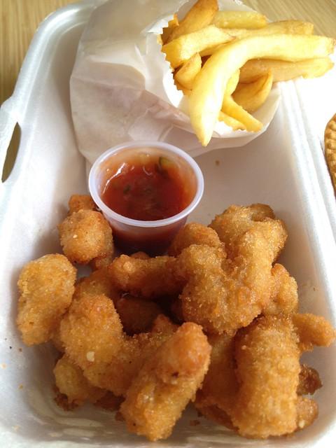Popcorn shrimp combo Patty Shack