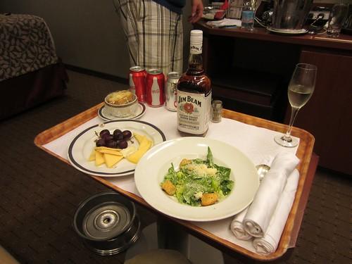 room service dinner